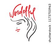 wonderful  the girl's head and...   Shutterstock .eps vector #1173703963