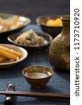 sake to taste with pottery | Shutterstock . vector #1173710920