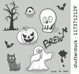 doodle cartoon halloween object ...   Shutterstock .eps vector #1173712129