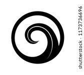 maori symbol is a spiral shape... | Shutterstock .eps vector #1173736696
