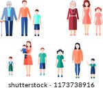 family peoples caracters  | Shutterstock .eps vector #1173738916