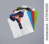 t shirt mockup  folded and... | Shutterstock . vector #1173740230