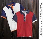 two designs   t shirt mockup ... | Shutterstock . vector #1173740266