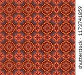 folk ethnic floral ornamental...   Shutterstock . vector #1173741859