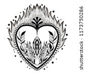 sacred holy heart jesus.... | Shutterstock .eps vector #1173750286