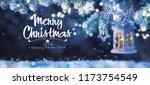 christmas lantern  christmas... | Shutterstock . vector #1173754549