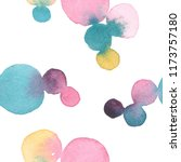 colorful watercolor shapes... | Shutterstock . vector #1173757180