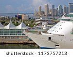 cruise ship docked at port of... | Shutterstock . vector #1173757213