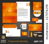 orange corporate identity... | Shutterstock .eps vector #117376198