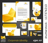 white corporate identity... | Shutterstock .eps vector #117376213