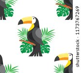tropical seamless pattern with... | Shutterstock .eps vector #1173767269