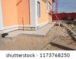 new house construction... | Shutterstock . vector #1173768250