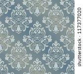 damask seamless pattern for...   Shutterstock .eps vector #117377020