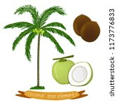 tropical coconut palm tree and... | Shutterstock .eps vector #1173776833