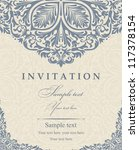 wedding invitation cards... | Shutterstock .eps vector #117378154