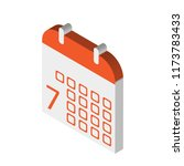 calendar isometric left top...