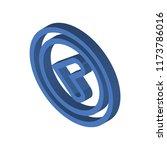 left arrow isometric left top...   Shutterstock .eps vector #1173786016