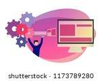 devops approach in software... | Shutterstock .eps vector #1173789280