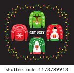 cute banner for ugly sweater... | Shutterstock .eps vector #1173789913