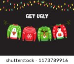 cute banner for ugly sweater... | Shutterstock .eps vector #1173789916
