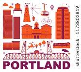 portland culture travel set ...   Shutterstock .eps vector #1173802819