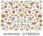 hand drawn floral elements for...   Shutterstock .eps vector #1173803623