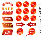 red sale design elements | Shutterstock .eps vector #117380410