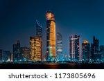 city night view of abu dhabi... | Shutterstock . vector #1173805696
