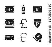 britain icon. 9 britain vector...   Shutterstock .eps vector #1173809110