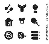 roasted icon. 9 roasted vector... | Shutterstock .eps vector #1173809176