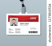 simple and clean red id card... | Shutterstock .eps vector #1173810526