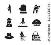 warm icon. 9 warm vector icons...   Shutterstock .eps vector #1173813796