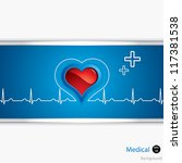 heart and heartbeat symbol... | Shutterstock .eps vector #117381538