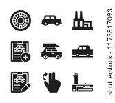 automotive icon. 9 automotive...   Shutterstock .eps vector #1173817093