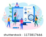 concept human resources ... | Shutterstock .eps vector #1173817666
