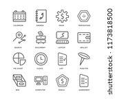 set of 16 simple line icons... | Shutterstock .eps vector #1173818500
