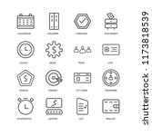 set of 16 simple line icons...   Shutterstock .eps vector #1173818539
