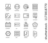 set of 16 simple line icons... | Shutterstock .eps vector #1173818770