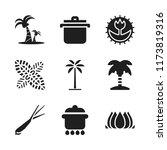 flora icon. 9 flora vector...   Shutterstock .eps vector #1173819316