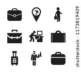 suitcase icon. 9 suitcase...   Shutterstock .eps vector #1173819409