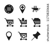 push icon. 9 push vector icons... | Shutterstock .eps vector #1173820666