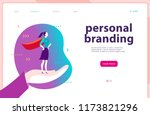 web page template   personal... | Shutterstock . vector #1173821296