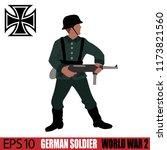 german soldier of world war 2.... | Shutterstock .eps vector #1173821560