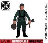 german soldier of world war 2.... | Shutterstock .eps vector #1173821563