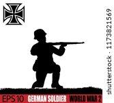 silhouette of german soldier of ... | Shutterstock .eps vector #1173821569