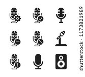 announce icon. 9 announce... | Shutterstock .eps vector #1173821989