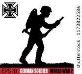silhouette of german soldier of ... | Shutterstock .eps vector #1173822586