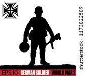 silhouette of german soldier of ... | Shutterstock .eps vector #1173822589