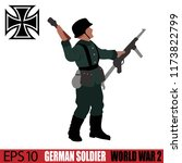 german soldier of world war 2.... | Shutterstock .eps vector #1173822799
