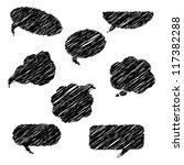 hand drawn speech bubbles | Shutterstock .eps vector #117382288